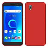 TBOC Red Ultra Thin TPU Silicone Gel Case Cover for Alcatel
