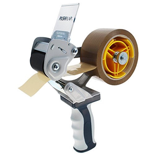 Packbandabroller mit Sicherheitsvorrichtung | Sicherheits-Handabroller | Für Klebeband mit 3-Zoll-Kern, max. 50 mm Breite | Profi-Qualität