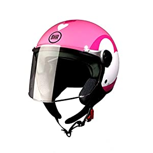 BHR Helm 710 Demi Jet Casco, Love Rose, 55/56