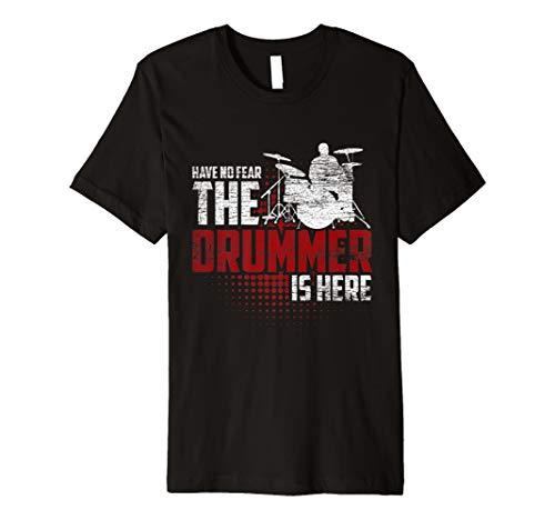 Schlagzeug T-Shirt - Habe keine Angst der Drummer ist hier -