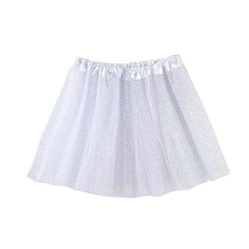 n Rock, Kinder Mädchen Tanz Fluffy Tutu Röcke Pettiskirt Ballett Kostüm kleidung 3-8 Jahre (Weiß) (Weiße Trikot Kostüm Ideen)