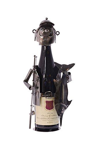 Flaschenhalter Flaschenständer Deko Weinflasche Motiv: Fischer 20 x 24,5 cm Blech