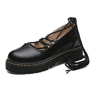 Confortevole ed elegante piatto scarpe donna tacchi Primavera / Estate / Autunno / Inverno Gladiator / Comfort / Novità Nozze in similpelle / Party & sera abito / / Casual Black