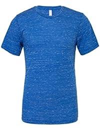 """Unisexe poly-coton t-shirt manche courte (BE119) - Vrai Royal Marbre, X-Large / 46""""-49"""""""