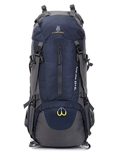 osopola groß (60Wandern Camping Outdoor Sport Rucksack Wasser Widerstand Daypack Reisen racksuck mit internen Rahmen DeepBlue -