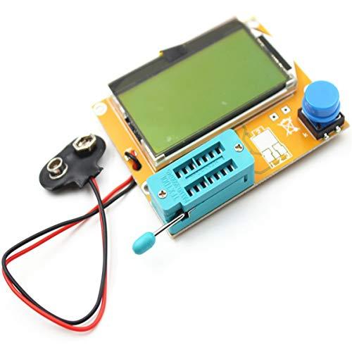 WEIWEITOE LCR-T4 LCD Digital Transistor Tester Meter Hintergrundbeleuchtung Diode Triode Kapazität ESR Meter Für MOSFET / JFET / PNP / NPN L / C / R 1, weiß,