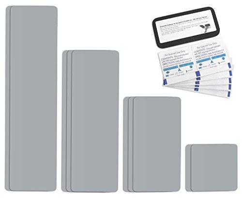 Preisvergleich Produktbild Selbstklebende Planenreparatur Tapes / 10 teilig / Easy Patch Comfort 100mm / Für Zelte,  Planen uvm. / Silber RAL 9006