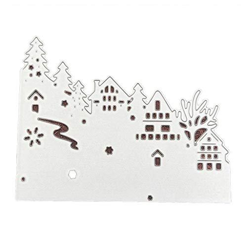 -Form, Kohlenstoffstahl Stanzschablone Prägeschablone für DIY Weihnachten Kunst Handwerk Karte Dekoration ()