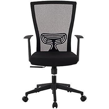 langria schreibtischstuhl h henverstellbar netz r cklehne b rostuhl ergonomisch wippfunktion. Black Bedroom Furniture Sets. Home Design Ideas