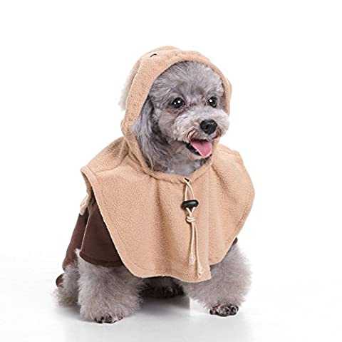 Profusion circle Cute Elf Dog Pet Four-legged Coat Ears Hooded Costume Apparel Cosplay Clothes - XL