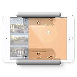 elago Home Hub Mount Wandhalterung Kompatibel mit Apple iPad Mini, iPad Air, iPad Pro, Samsung Galaxy Tab, meisten Tablets - Einfaches Montieren, Kratzfestes Silikon, Kabelmanagement Inclusive - Weiß