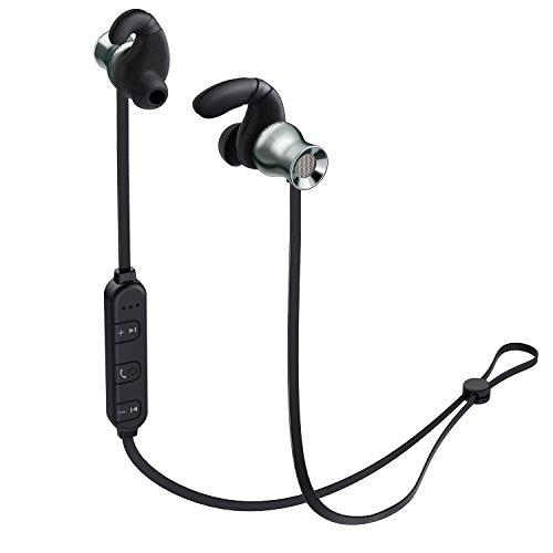 AUKEY Bluetooth Kopfhörer In Ear magnetische Ohrstöpsel mit eingebauter Bedienung & Mikrofon für Smartphones, Tablets, Laptop, Mp3 und vieles mehr