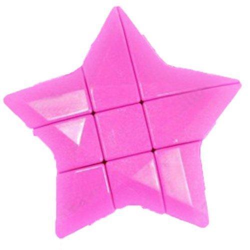 YJ 3x3x3 Rojo cubo de la estrella Mod rompecabezas del rompecabezas del cubo 3x3 Chueco Smooth de juego fácil