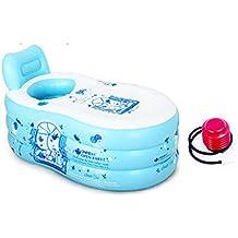 YONG SHOP- Aufblasbare Badewanne Umweltschutz Dicker Erwachsene Wanne Falten Wanne Kinder Waschbecken Bad Fässer Kunststoff Badewanne ( Farbe : Blau , größe : 150*85*70cm )
