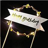 MMD Romantico Bella Luce Rotonda Torta Cappello Compleanno Festa Banner  Decorazione Cibo Segno Torta di Compleanno 83fc7d6eb8ff