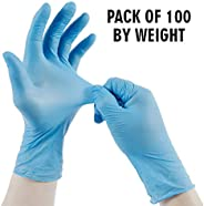 ORILEY Disposable Nitrile Gloves Hand Protection Rubber Examination Glove for Hospital, Clinic, Sanitary &