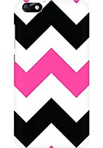 AMEZ designer printed 3d premium high quality back case cover for Huawei Honor 4X (zig zag pink)