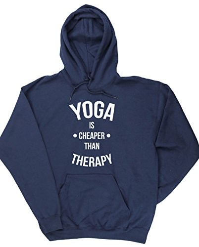 hippowarehouse-yoga-is-cheaper-than-therapy-unisex-hoodie-hooded-top