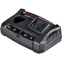 Bosch Professional 1600A011A9 Cargador Doble de batería, 10.8 – 18 V, Corriente de Carga 3,0 A, en Caja, 240 V, Negro