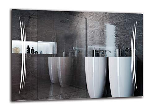 LED Spiegel Premium - Spiegelmaßen 100x70 cm - Badspiegel mit LED Beleuchtung - Wandspiegel - Lichtspiegel - Fertig zum Aufhängen - ARTTOR M1ZP-20-100x70 - Lichtfarbe Weiß kalt 6500K - ARTTOR
