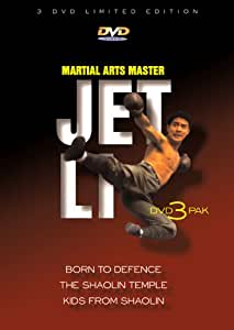 Jet Li Dvd 3 Pack : Born to Defence / The Shaolin Temple / Kids from Shaolin [Import USA Zone 1]