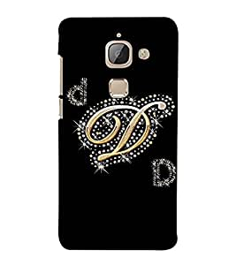 Fuson Designer Back Case Cover for LeTv Le Max :: LeEco Le Max (A Diamond Alphabet D Theme)