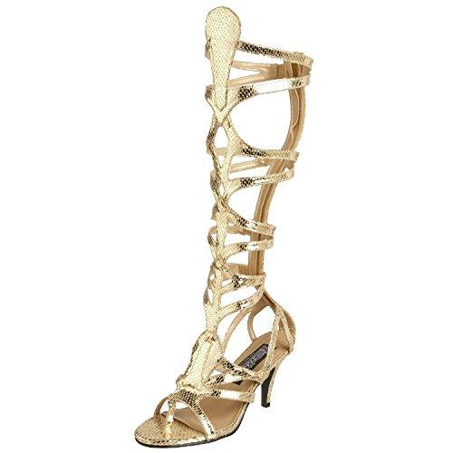 Higher-Heels Funtasma Römerinnen-Schuhe Goddess-12 mattgold Gr. 38