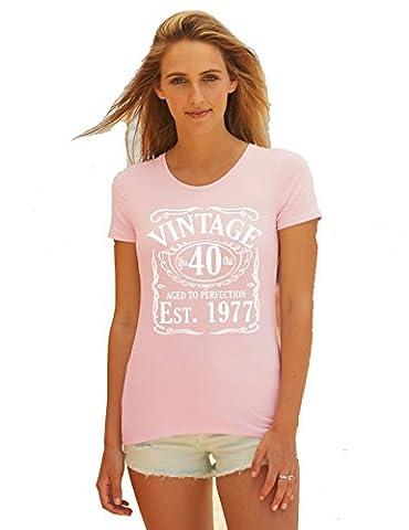 T-Shirt Printing 4 U - T-shirt - Col Rond - Femme - rose - 40