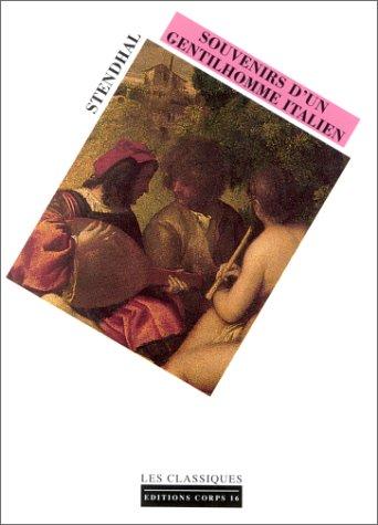 Souvenir d'un gentilhomme Italien par Stendhal (Broché)