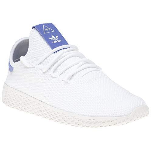 adidas Unisex-Kinder Pw Tennis Hu J Fitnessschuhe, Weiß Ftwbla/Blatiz 000, 38 - Tennis Adidas Kinder Schuhe