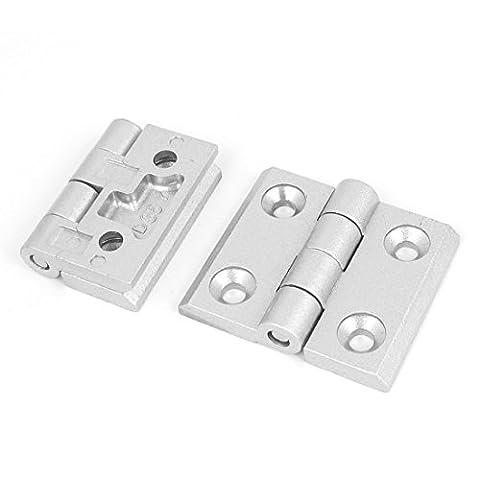sourcingmap® Cupboard Cabinet Closet 60mm Long Aluminum Alloy Door Butt Hinge 2pcs