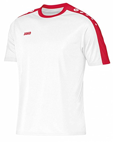 JAKO Herren Trikot Striker KA, mehrfarbig(weiß/rot), 164(Herstellergröße:XXL)