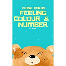 Teddy Bear - Set of Feeling, Color & Number Flashcards: Book for Toddler (Child Flash Cards) (English Edition)