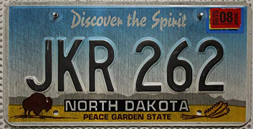 US Nummernschild NORTH DAKOTA Kennzeichen # Bison / Büffel Motiv # Blechschild