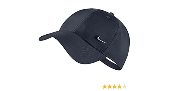 newest 4880b 1e0ea Nike Unisex Navy Heritage 86 NK Metal Swoosh Classic Sports Hat 943092-010   Amazon.in  Clothing   Accessories