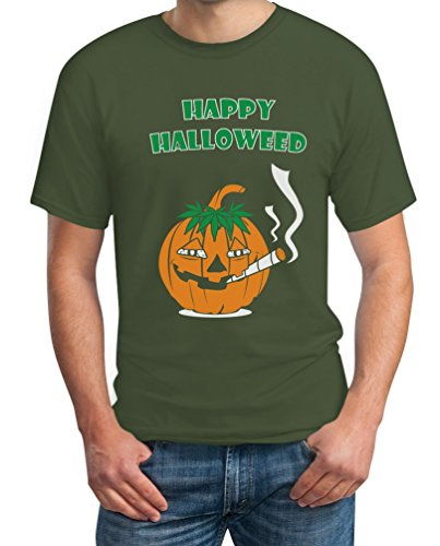 Happy Halloweed Cooles Halloween Outfit Kürbis Dope T-Shirt XX-Large Olivgrün