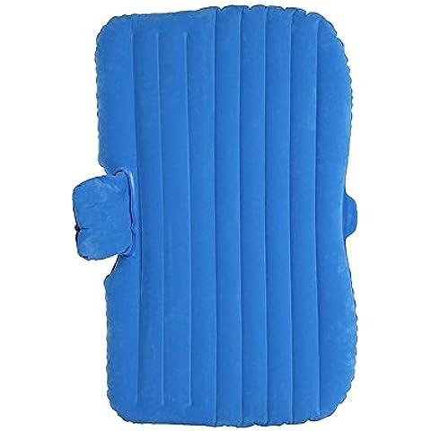 sogar coche nieve colchón hinchable con dos almohada de aire cama de aire inflable para viaje coche asiento trasero, 4colores, Azul