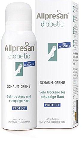 Allpresan diabetic PROTECT - Crema en espuma para pies secos y escamosos (10% de urea, especial para diabéticos)