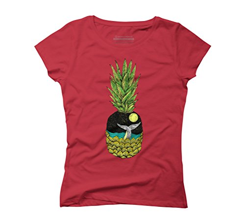 whale tail and the pineapple Women's Graphic T-Shirt - Design By Humans Red