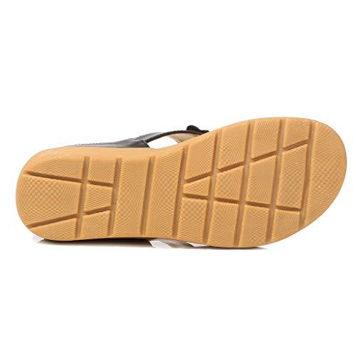 CUTUDE Frauen Strass Schmetterling Dick-Bottomed Flip-Flops Schuhe Bohemian Casual Schuhe Übergröße Sommerschuhe Strandschuhe Pantoletten (Schwarz, 39)