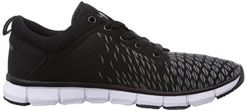 KangaROOS K-Blue Run 8005, Unisex-Erwachsene Sneakers Schwarz (black 500)