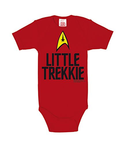 Star Trek Little Trekkie Mono, Rojo (Red 010), 6-9 Meses (Tamaño Fabr