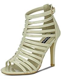 Get Glamr Women's Beige Sandals - B072BHQ7SR