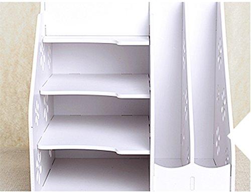Libro Librería Estante 28.2 (L) * 23 (W) * 28 (H) Cm Blanco Marfil Escritorio Escritorio de Escritorio de Escritorio Creativo Tallado