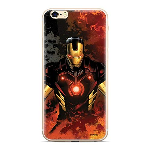 Finoo Hülle kompatibel für iPhone 6/6S - Marvel Handyhülle mit Motiv und Optimalen Schutz TPU Silikon Tasche Case Cover Schutzhülle - Iron Man V1