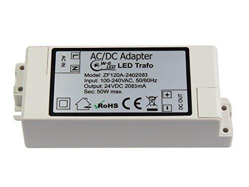 LED-TRAFO 24V-DC 50W max. Transformator-Netzteil 2,083A