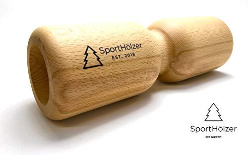 SportHölzer Massagerolle in massiver Buche - Natürliche Faszienrolle aus Holz - Ideal für die Haut, Antibakteriell, Antistatisch und Antiallergisch - Fühl den Wald!