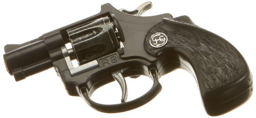 J.G.Schrödel R8: Spielzeugpistole mit Daumenauflage in Box, ideale Ausrüstung für kleine Polizisten, 8-Schuss-Munition, 12 cm, schwarz (100 0028)