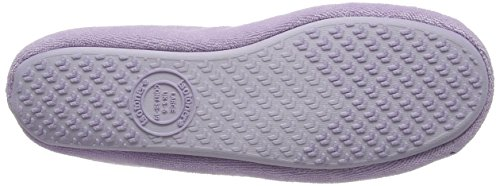 Isotoner Ladies Terry Ballerina Slippers, Pantofole Donna Purple (Lilac)