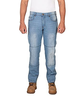 HB Deosai Bear Straight Fit Aramid Lined Motorcycle Jeans, Free Armours.